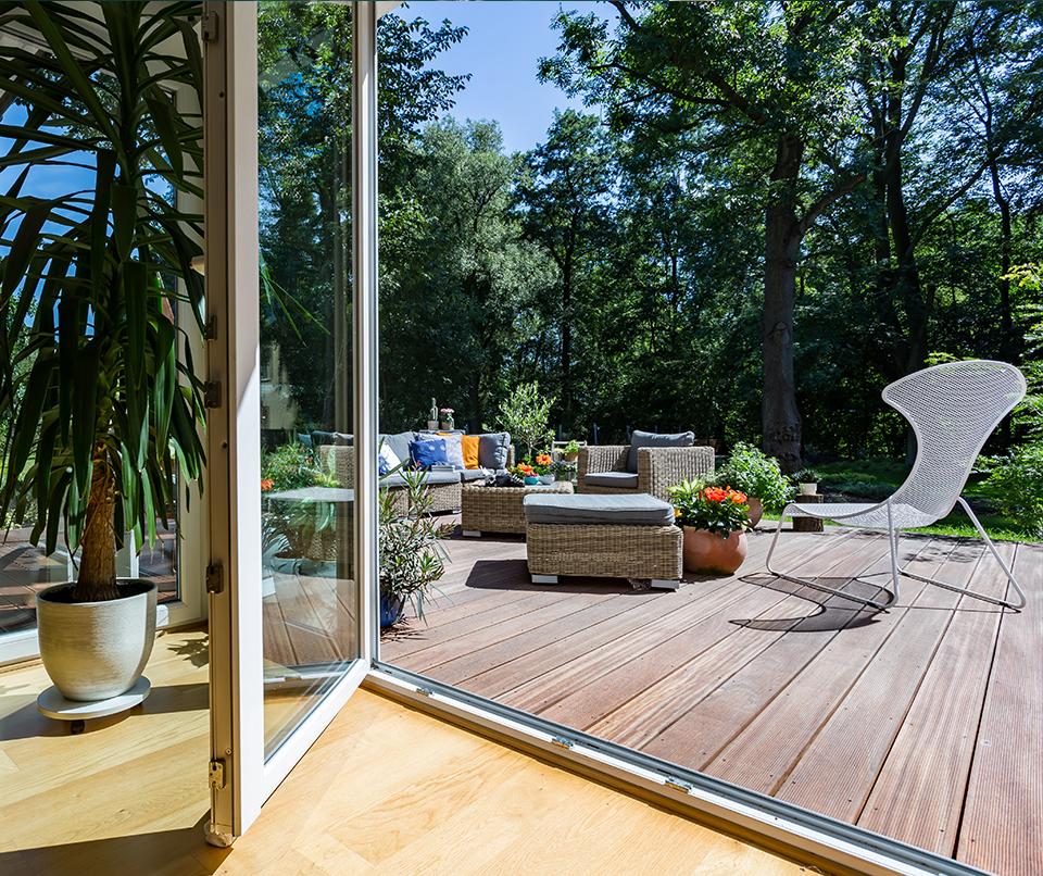 terrasse vue extérieure